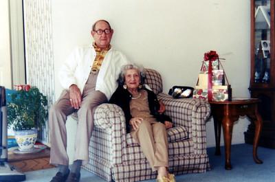 My grandmother and Jim, December 25, 1997.