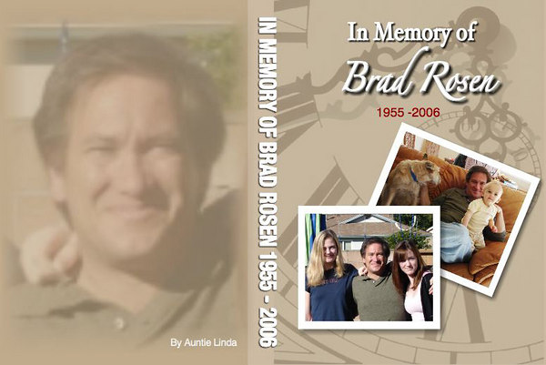 This is the cover to the DVD movie I made for Brad as a tribute. To view the movie CLICK HERE.