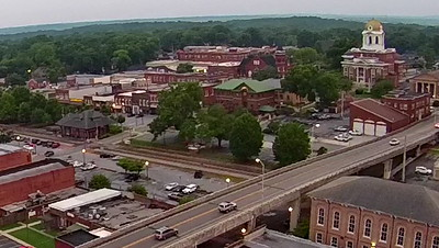 Aerial view of Cartersville by Dave Boggess.