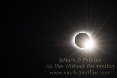 Bailey's Bead and Diamond Ring during the 2017 Great American Total Solar Eclipse