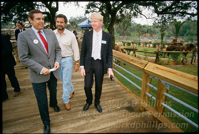 Governor Robert Martinez and Lowry Park Zoo director Lex Salisbury tour before the opening  of Lowry Park Zoo in Tampa, Florida