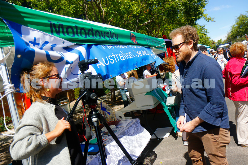 17-3-18. In One Voice street festival, Elsternwick. John Safran. Photo: Peter Haskin