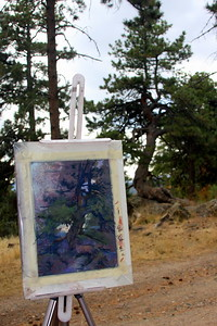 Sabrina Stiles, Easel, at Mt. Falcon