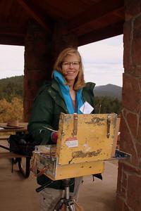 Deborah McAllister, Artist, Mt. Falcon