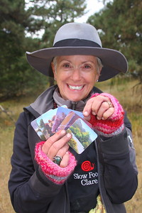 Pick a card,. any card--Clare Scott, Artist, at Mt. Falcon