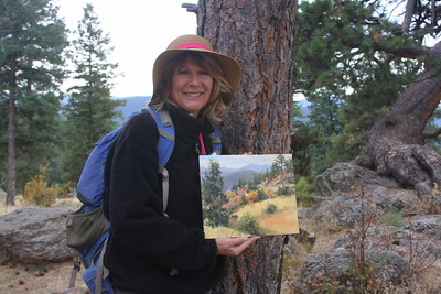 Cheryl St. John, Artist, at Mt. Falcon