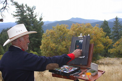 Norbert Nagel at work at Mt. Falcon Open Space