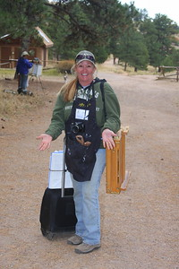 Debra Jeffrey, Artist, at Mt. Falcon