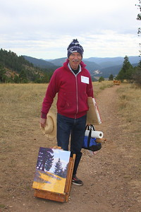 Rodgers Naylor, Artist, and his work, at Mt. Falcon