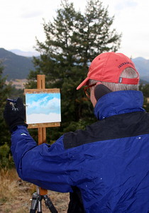 Cloud Work, Don Hamilton, Artist, at Mt. Falcon