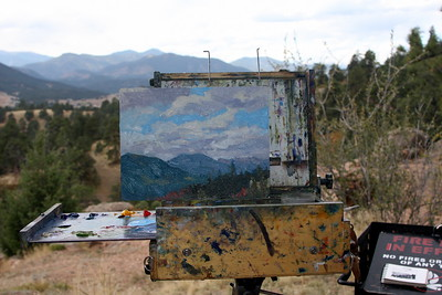 Deborah McAllister's Easel, Mt. Falcon