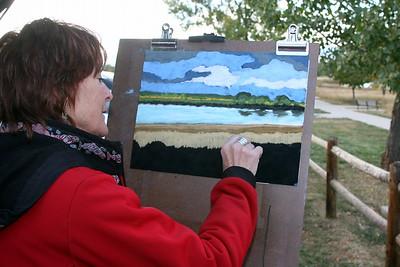 Karen Spottts at work, Crown Hill Park