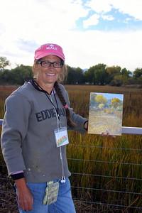 Jennifer Riefenberg displays her art, Crown Hill Park