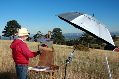 Rodgers Naylor at his easel, White Ranch
