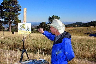 Scott Lines at his easel, White Ranch