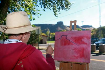Rodgers Naylor, Artist, begins his Clear Creek work