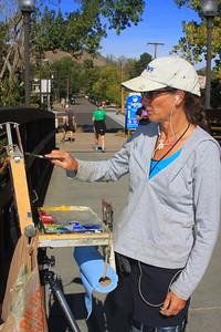 Jennifer Riefenberg, Artist, on the 11th Street Bridge