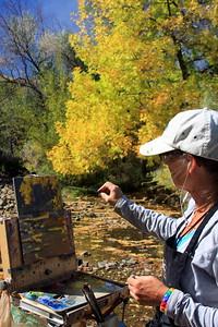 Jennifer Riefenberg, work in progress, Clear Creek