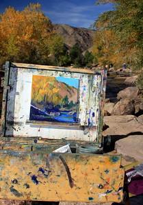 The easel of the Artist Deborah McAllister, Clear Creek