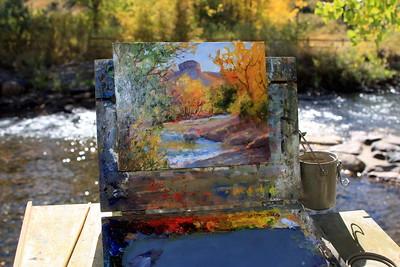 The easel of the Artist, Cheryl St. John, Clear Creek