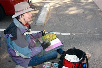 Pat Sheeran/Daggett, Artist, at Clear Creek