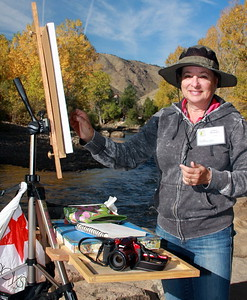 Linda Mooney, Artist, at Clear Creek