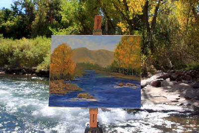 The easel of the Artist Linda Mooney, Clear Creek