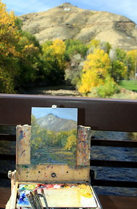 The easel of the Artist Jennifer Riefenberg