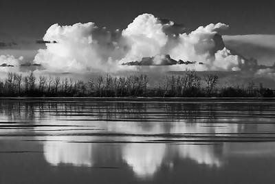 Three Clouds 8x12 Metal Print $70
