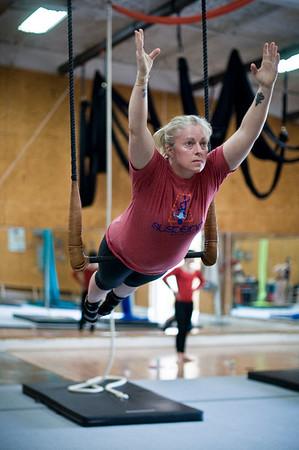 Courtney and Mia, trapeze:  4/7/16