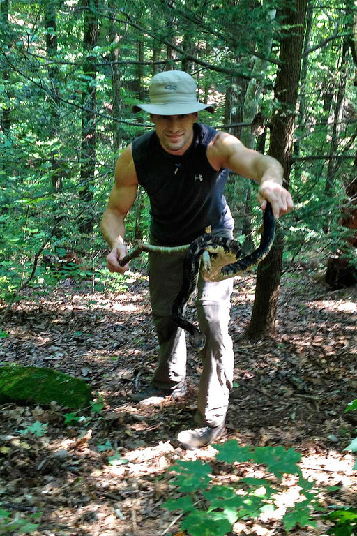 iPhone snap of me and an adult Timber Rattlesnake