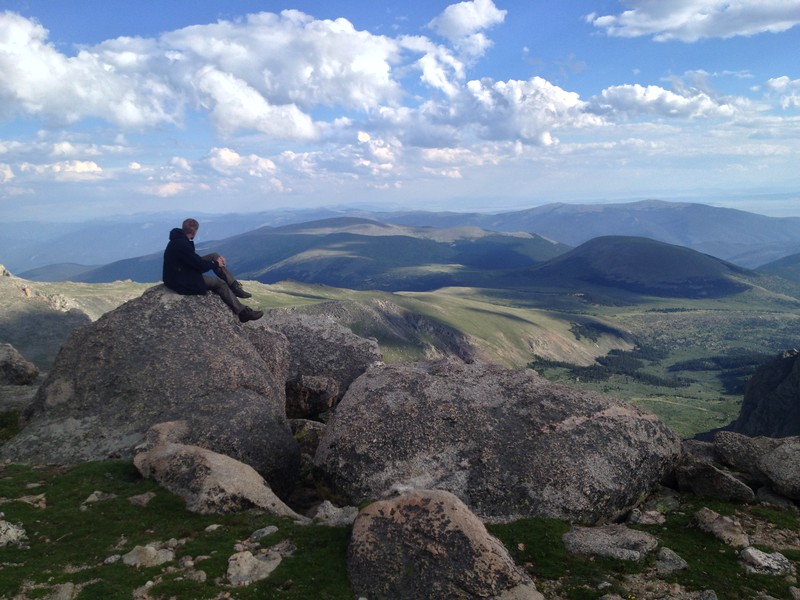At the top of Mt Evans