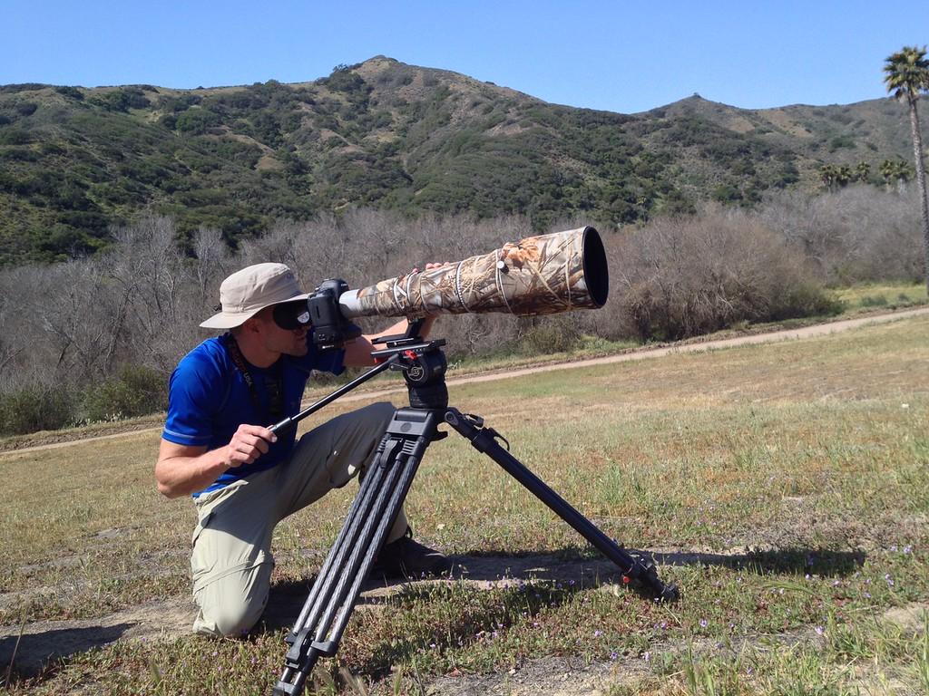 Filming on Catalina Island