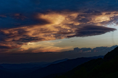 Sunset - Pisgah Inn - Blue Ridge Parkway