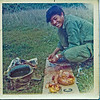 Hoang preparing the bird