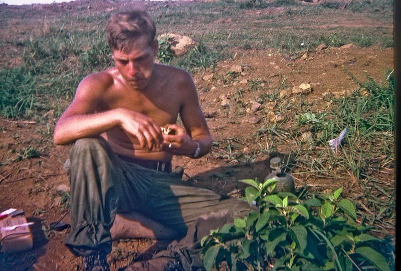 Shaving in the bush