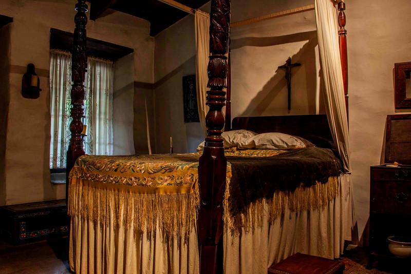 Interior of the Avila Adobe-Probably a bedroom