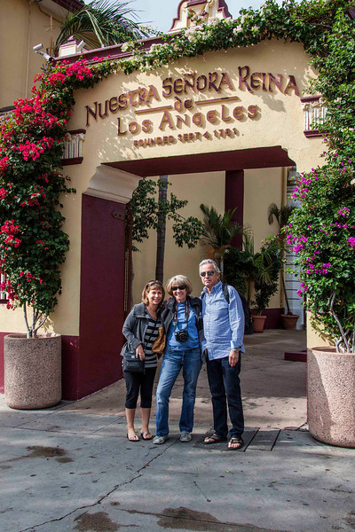 Zippi, Jan, & Gary at L.A.'s oldest church at the heart of where the city began in 1781.