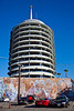 "The Capitol Records Building from the employees' parking lot.<br /> What do you mean, ""What's a record?"""