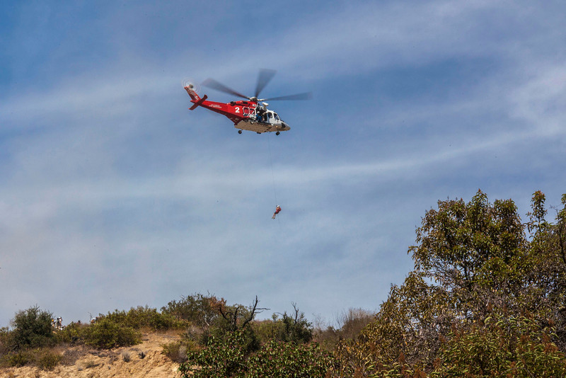 Someone fell off the cliff. LAFD to the rescue.