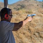 Shooting at the Sand Canyon range with Rob Jones, Zack, Peter and me