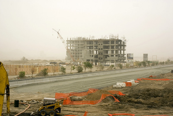 Sand Storm and Damage (6 Photographs)