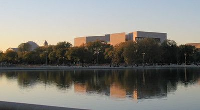 National Gallery and Natural History Museum at dusk