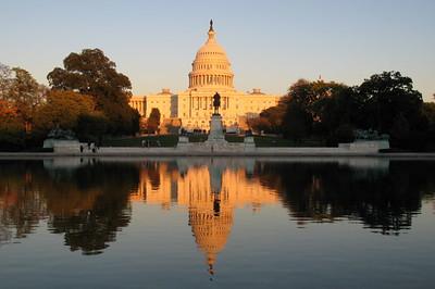 Capitol and Grant Memorial at dusk
