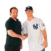 Brett Gardner of the New York Yankees and I at a Photoshoot