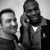 db and Robert Randolph, before he opened up for Eric Clapton 2004, Washington, DC  Named by Rolling Stone Magazine as one of the top 100 guitarist of all time.
