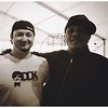Ivan Neville of Dumpstafunk and I pre skinful sound check. 2012