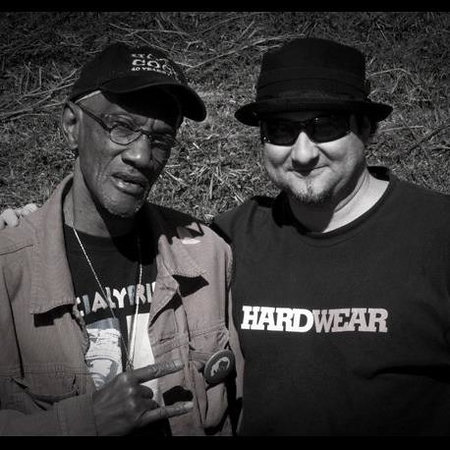 "Bernie and DB BAXLEY   RIP George Bernard ""Bernie"" Worrell, Jr. is an American keyboardist and composer best known for his work with Parliament-Funkadelic and Talking Heads. He is a member of the Rock and Roll Hall of Fame, inducted in 1997 with fifteen other members of Parliament-Funkadelic. Ice Cube called him the best keyboardist he has ever heard. — with Charles Dean."