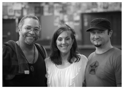 "George Porter Jr. of the ""Funky Meters"", Dana, and db poorhouse, 8-13-2010 — with Dana LaCavera."