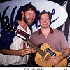 """John Bell of Widespread Panic presenting me with an autographed guitar for my artwork. — at """"The Joe""""."""